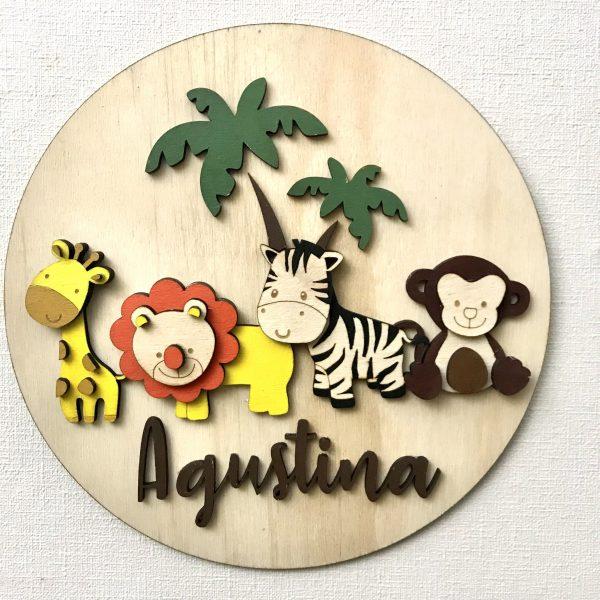 Cuadro decoración niños animales de la selva