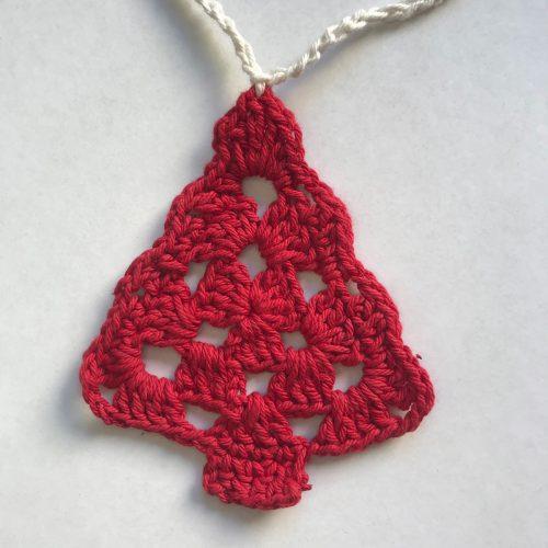 Pinito rojo tejido a crochet navidad