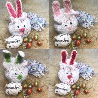 Bolsa conejo tejida a crochet