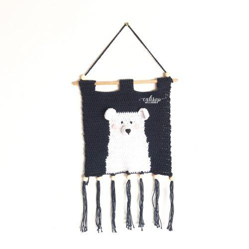 Oso tejido a crochet